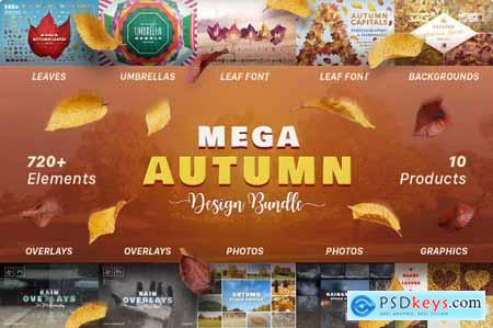 Mega Autumn Design Bundle with 700+ Elements