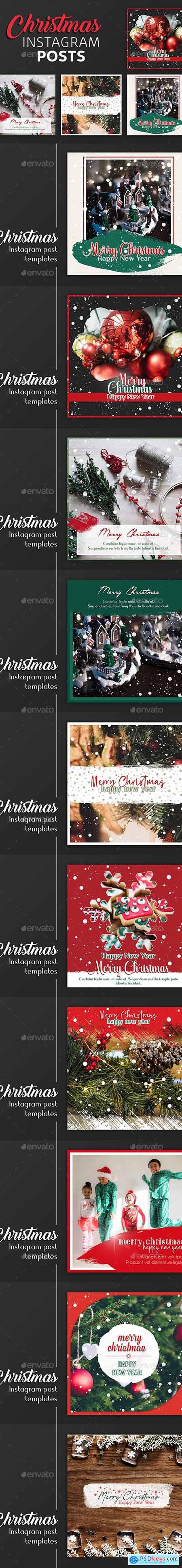 Christmas Instagram Post Templates 22882080