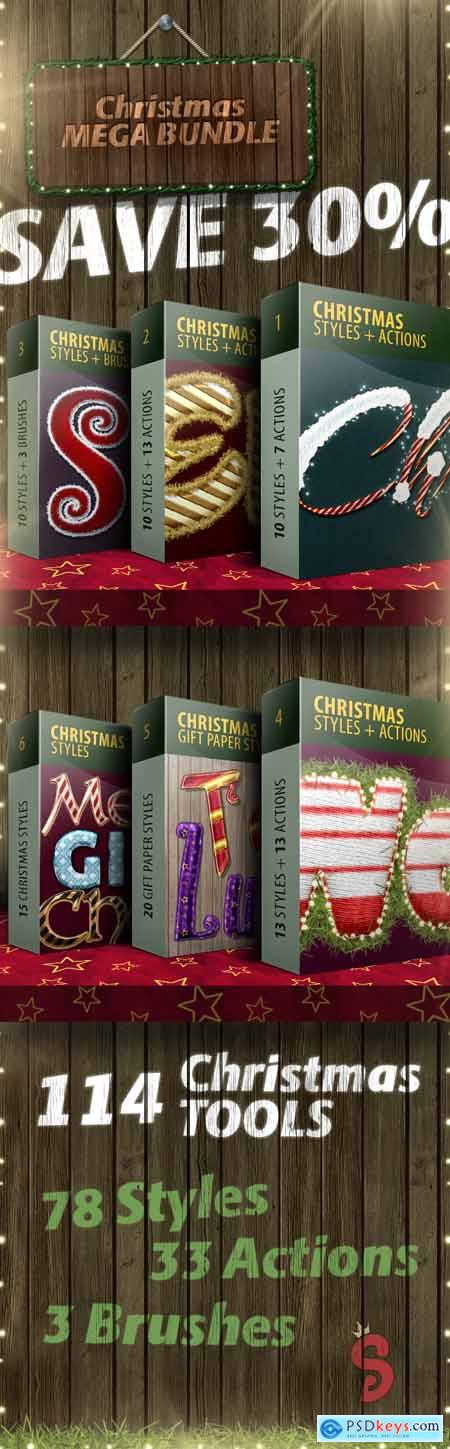 Christmas Actions & Styles - Mega Bundle 13720345