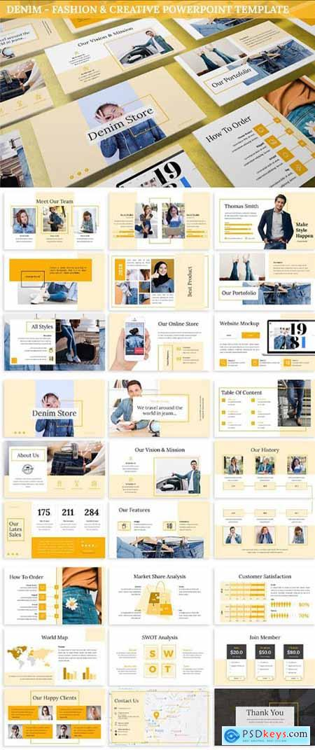 Denim - Fashion & Creative Powerpoint Template