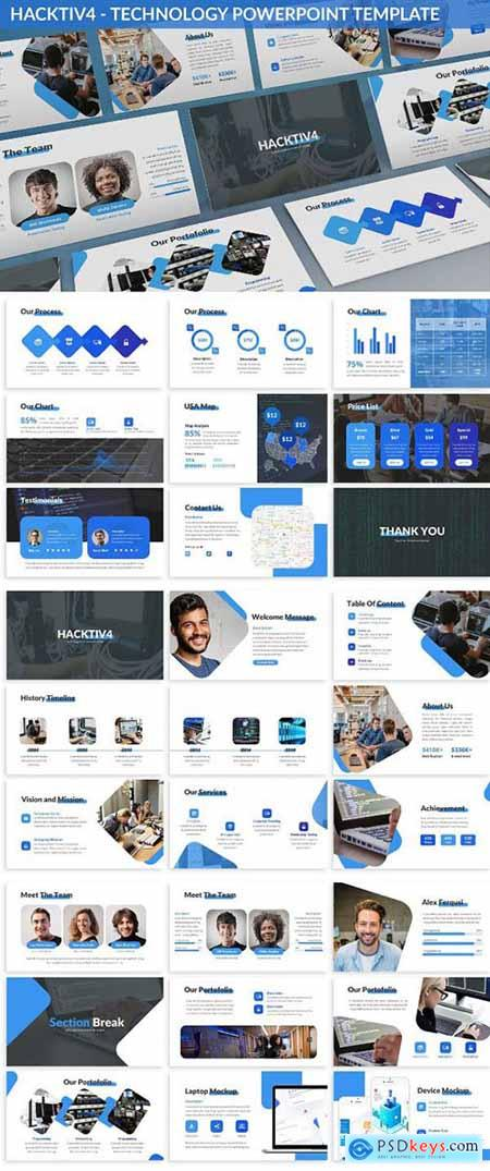 Hacktiv4 - Technology Powerpoint Template