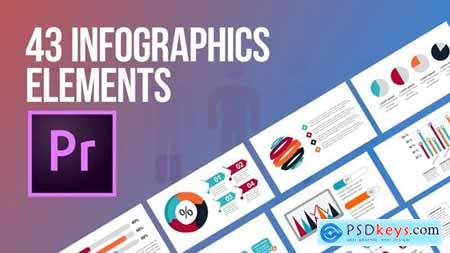 Videohive 43 Infographics Elements (MOGRT) 24245727