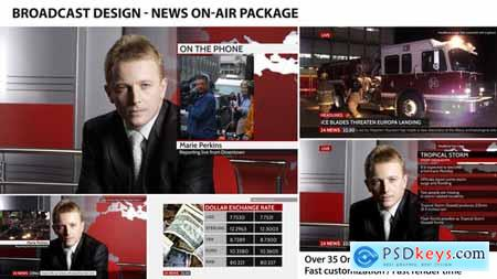 Videohive Broadcast Design News On-Air Package 4410055