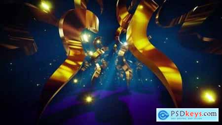 Videohive Gold Helix Stage Tunnel 24677420