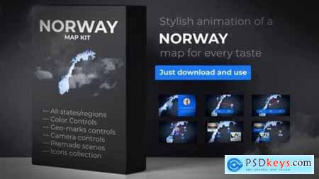Videohive Norway Map Kingdom of Norway Map Kit 24702561