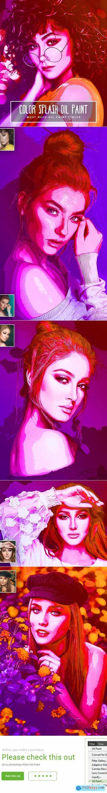 Color Splash Oil Paint 24544406