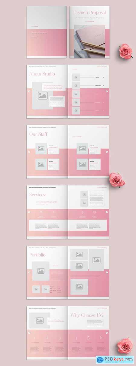 Fashion Proposal Layout with Pink Accents 271635940