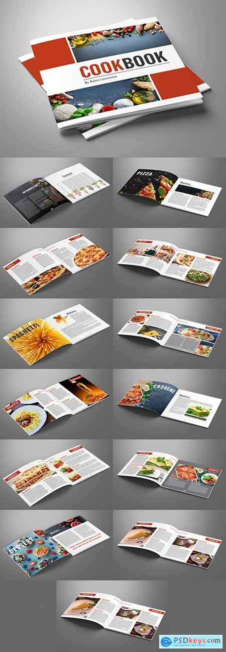 Cooking Book Layout with Red Accents 279187719