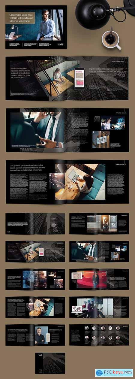 Dark Brochure with Mobile Device Illustrations 273040375
