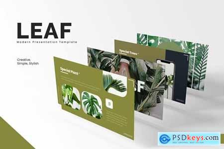 Leaf Powerpoint, Keynote and Google Slides Templates
