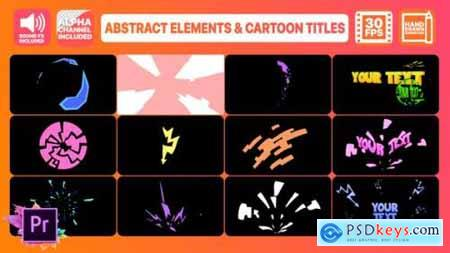 Videohive Abstract Shapes And Cartoon Titles Premiere Pro MOGRT 24743565