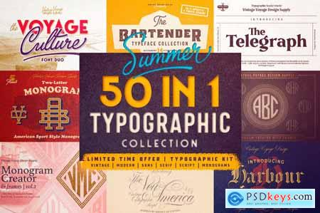 50 Fabulous Fonts from Vintage to Modern