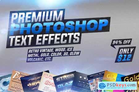 Great Collection of Premium Photoshop Text Effects