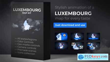 VideoHive Luxembourg Map - Grand Duchy of Luxembourg Map Kit 24726531