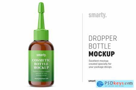 Dropper bottle mockup amber 3754964