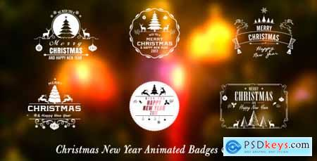 Videohive Christmas New Year Badges 9756130