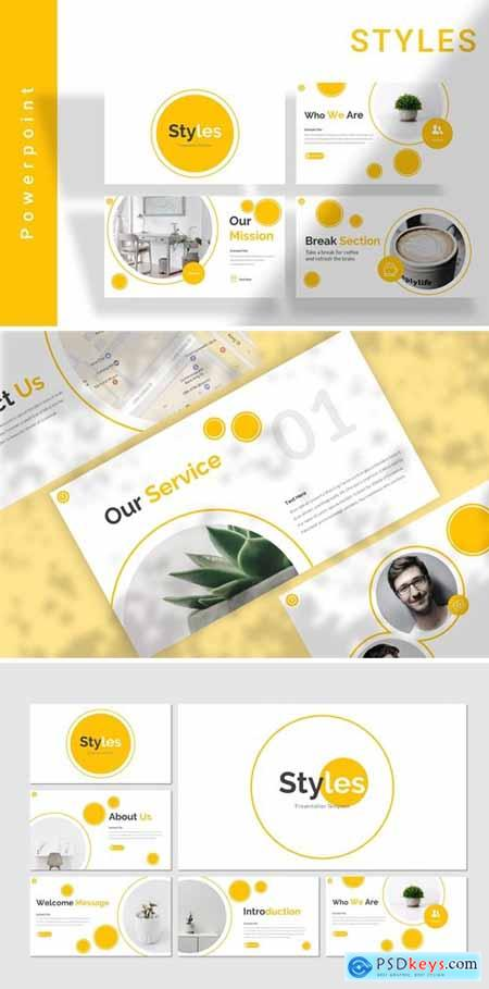 Styles Powerpoint, Keynote and Google Slides Templates
