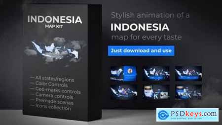 Videohive Indonesia Map Republic of Indonesia Map Kit 24743374