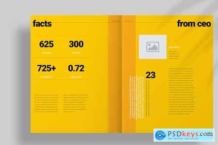 Yellow Brochure Layout 4167103