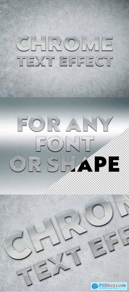 Chrome Text Effect Mockup 282505151