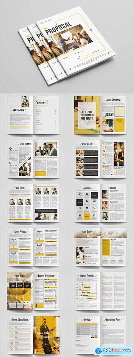 Business Proposal Layout with Orange Accents 293224481
