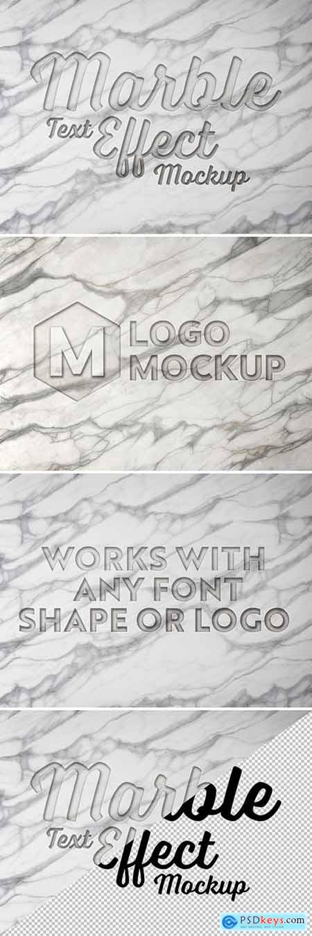 Engraved Marble Text Effect Mockup 281331362