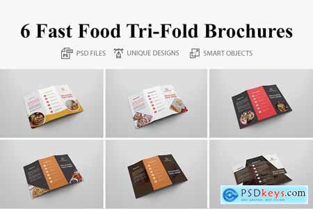 6 Fast Food Tri-fold Brochures 4160653