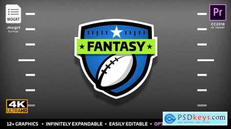 Videohive Fantasy Football Kit MOGRT for Premiere Pro 22607548