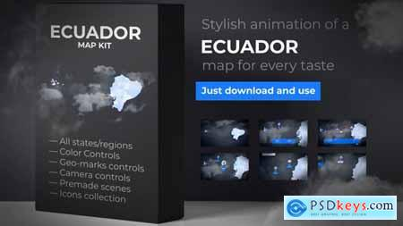 Videohive Ecuador Map Republic of Ecuador Map Kit 24758349