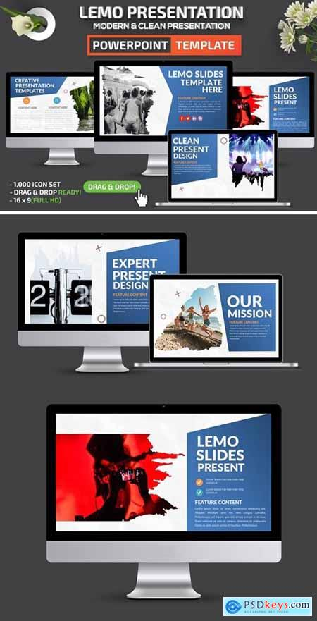Lemo Powerpoint, Keynote and Google Slides Templates