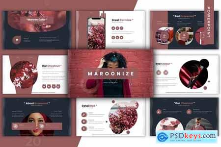 Maroonize Powerpoint, Keynote and Google Slides Templates