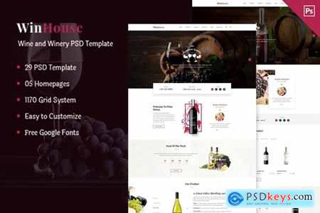 Wizym Wine & Winery PSD Template