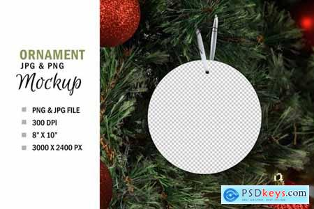 Christmas Ornament Mockup PNG