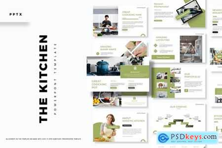 The Kitchen Powerpoint, Keynote and Google Slides Templates