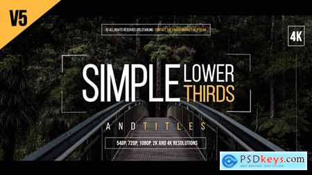 Videohive Simple Lower Thirds For FCPX 19700204