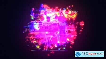 VideoHive Glow Glitch Logo Reveal 24735928