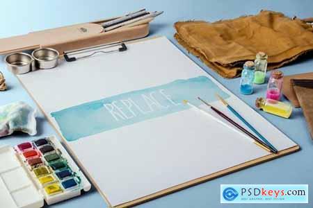 Watercolor Paint Mockup Pack #1