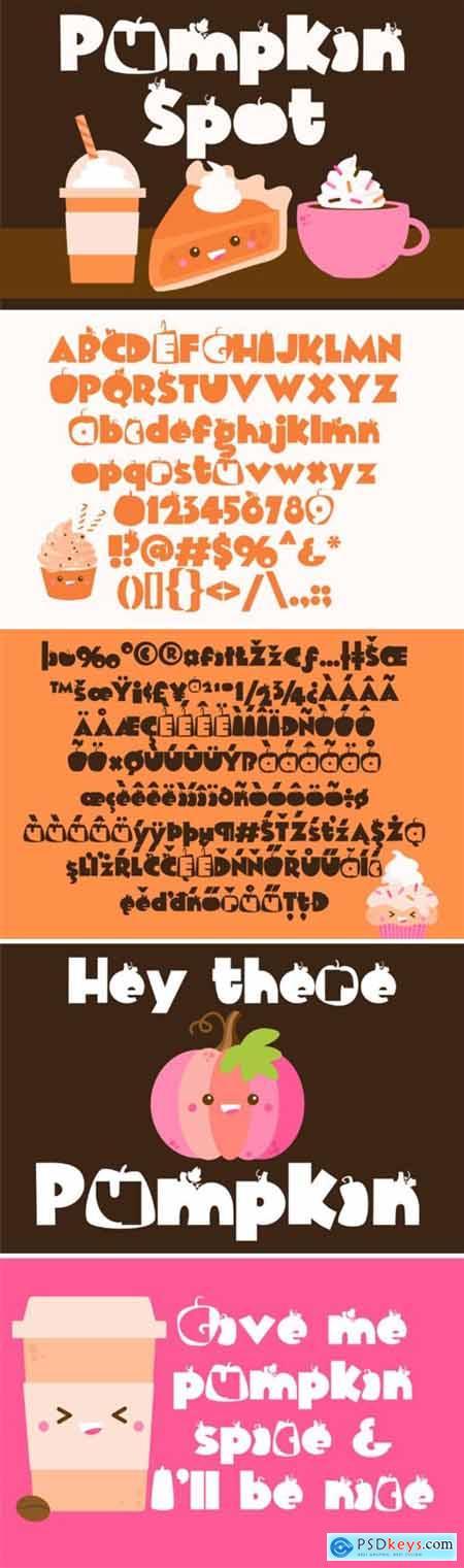 Pumpkin Spot Font