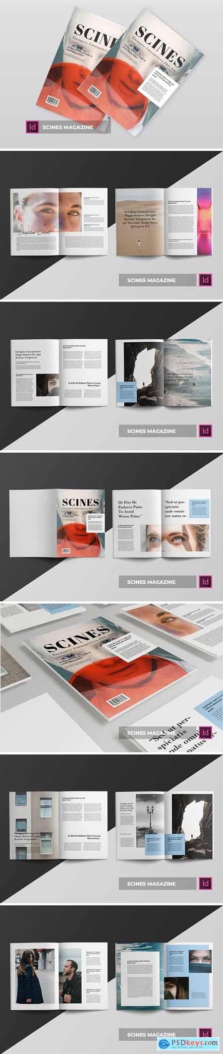 Scines Magazine Template
