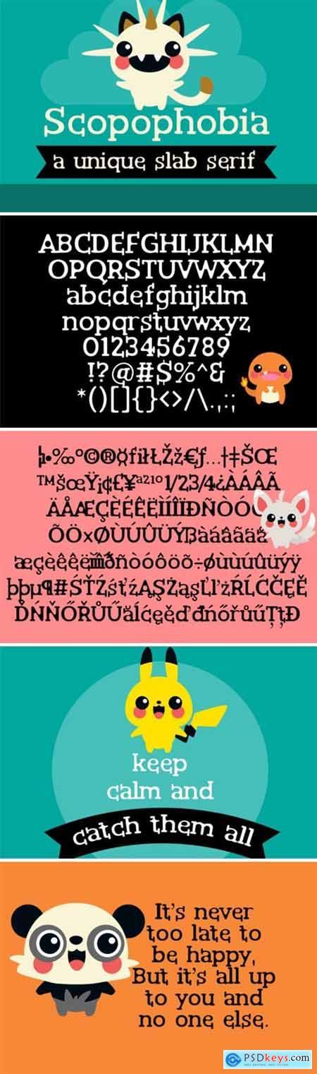 Scopophobia Font