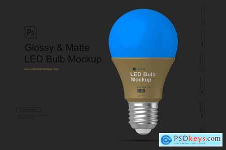 Glossy & Matte LED Bulb Mockup 4169906