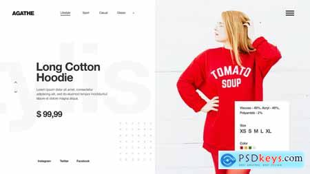 VideoHive Minimal Fashion Store Clean Market Promo Clothes Collection Shop Product Presentation 24629780