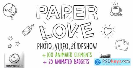 VideoHive Paper Love Photo Video Slideshow 10734754