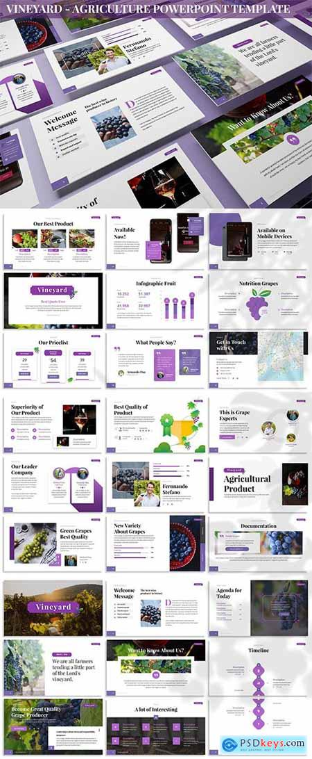 Vineyard - Agriculture Powerpoint Template