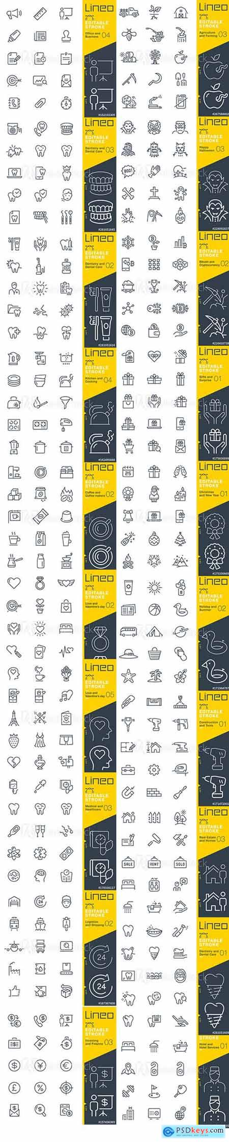 Vector Set - Outline Icons Pack Lineo