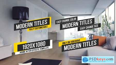 Videohive Modern Titles Lower Third 13513342