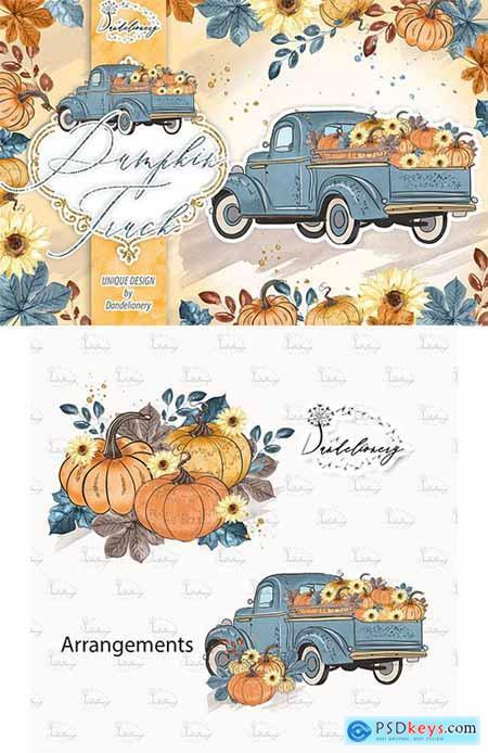 Pumpkin Truck Blue design