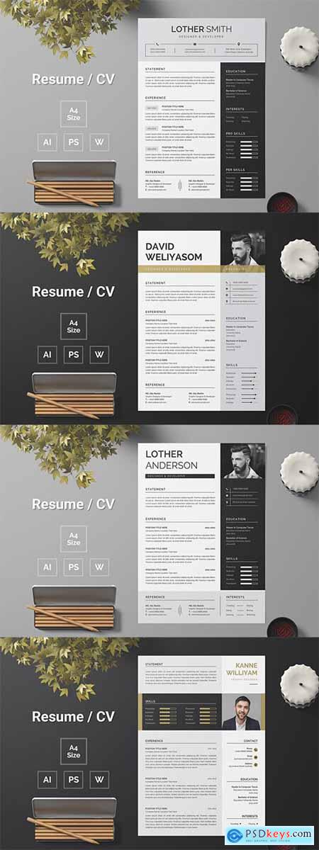 Resume Template 154-157