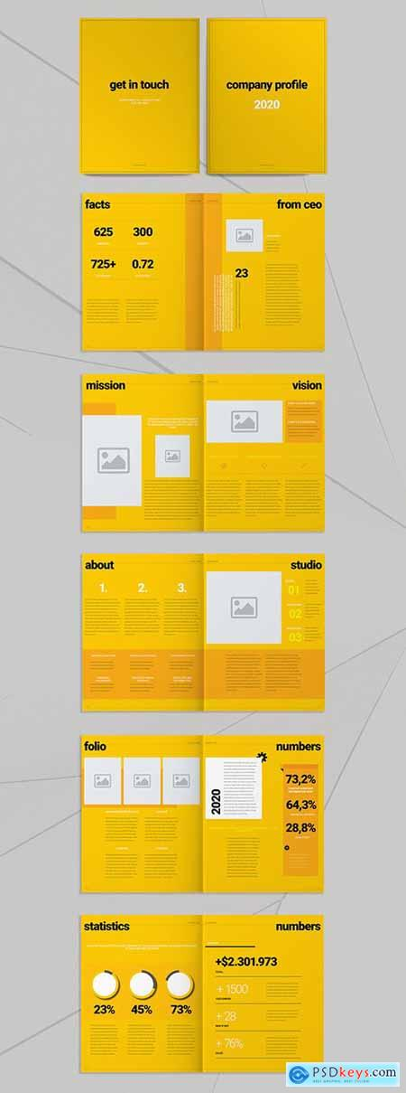 Yellow Brochure Layout 293433658