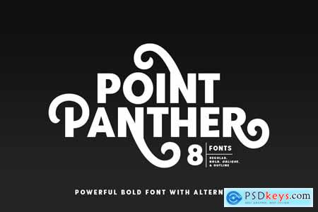 Point Panther (8 BOLD FONTS) 4065146